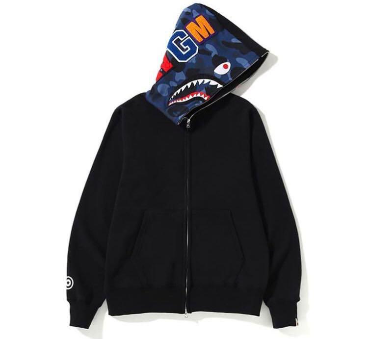 a422e8c77167 Bape color camo shark full zip hoodie