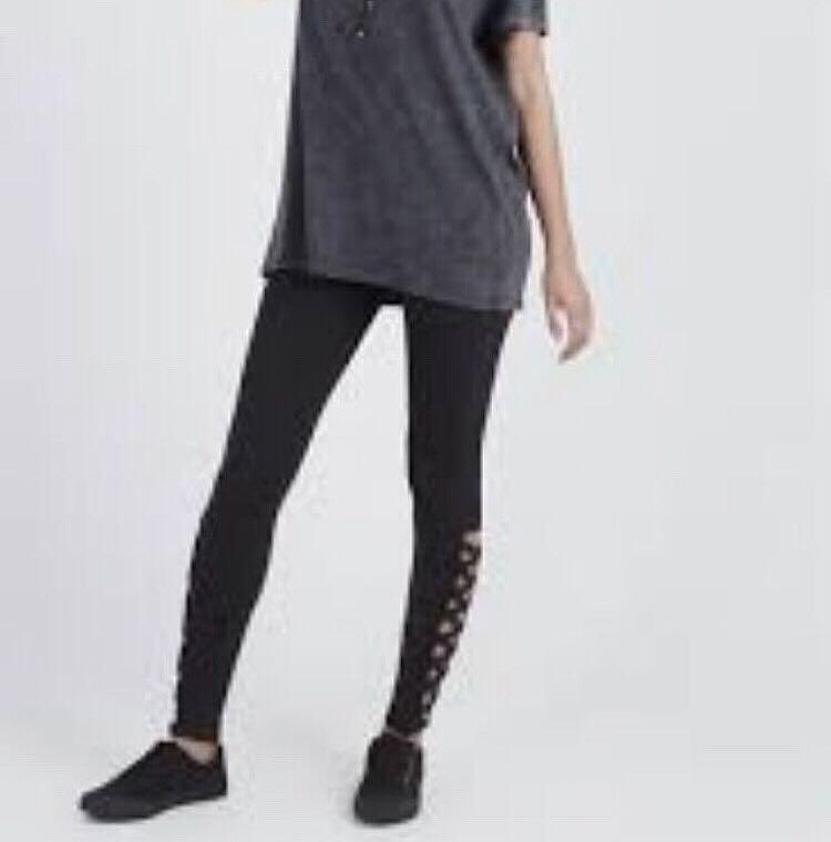 Black Leggings with Criss Cross Cutout Detailing #SwapAU