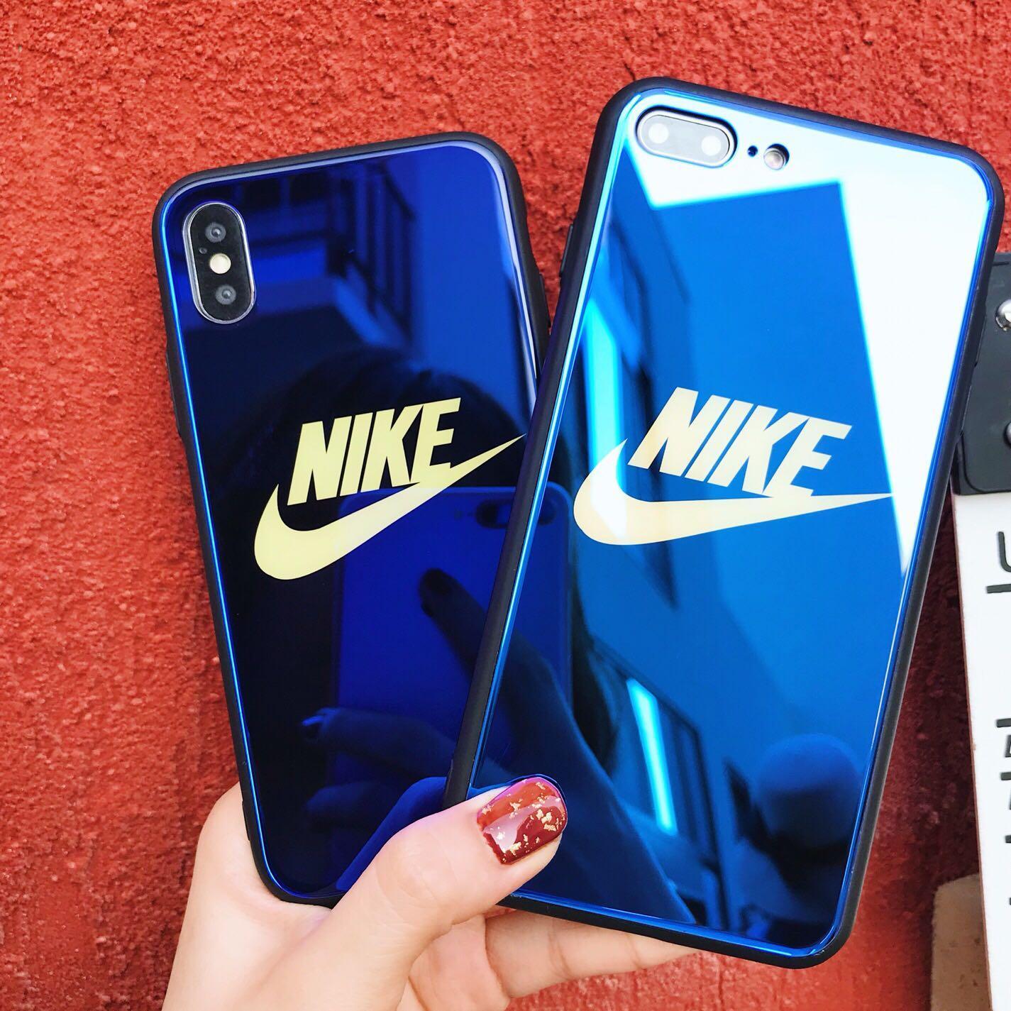 Blue Chrome Nike Phone Case