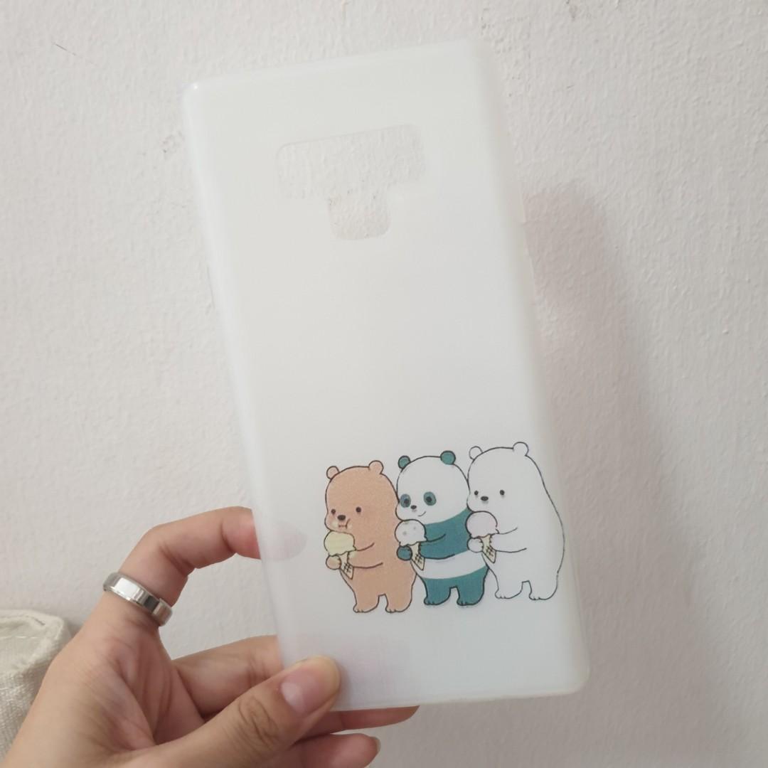 brand new ! we bare bear samsung note 9 phone case