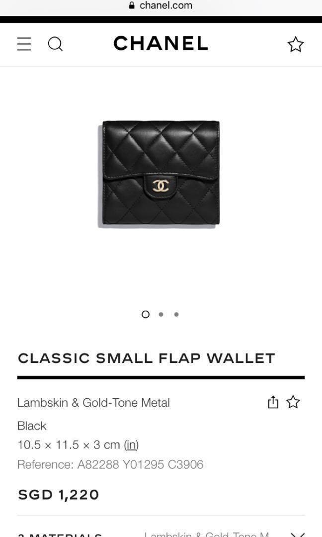 fa8e16804d Brand new Chanel Small Flap Wallet in Black Caviar, Women's Fashion ...