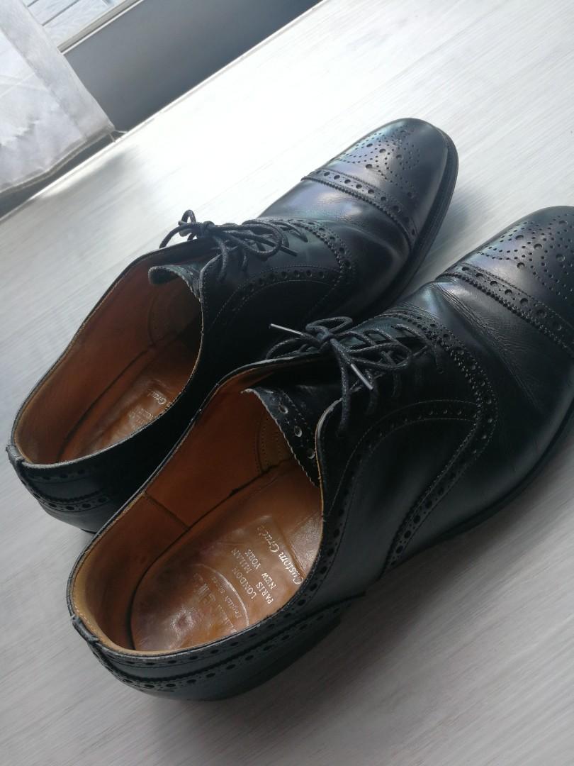 6c23ee4b15e Church s black leather wingtip shoes US11D