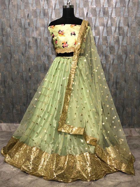 3f12744332 Creamy lehanga Choli, Women's Fashion, Clothes, Dresses & Skirts on ...