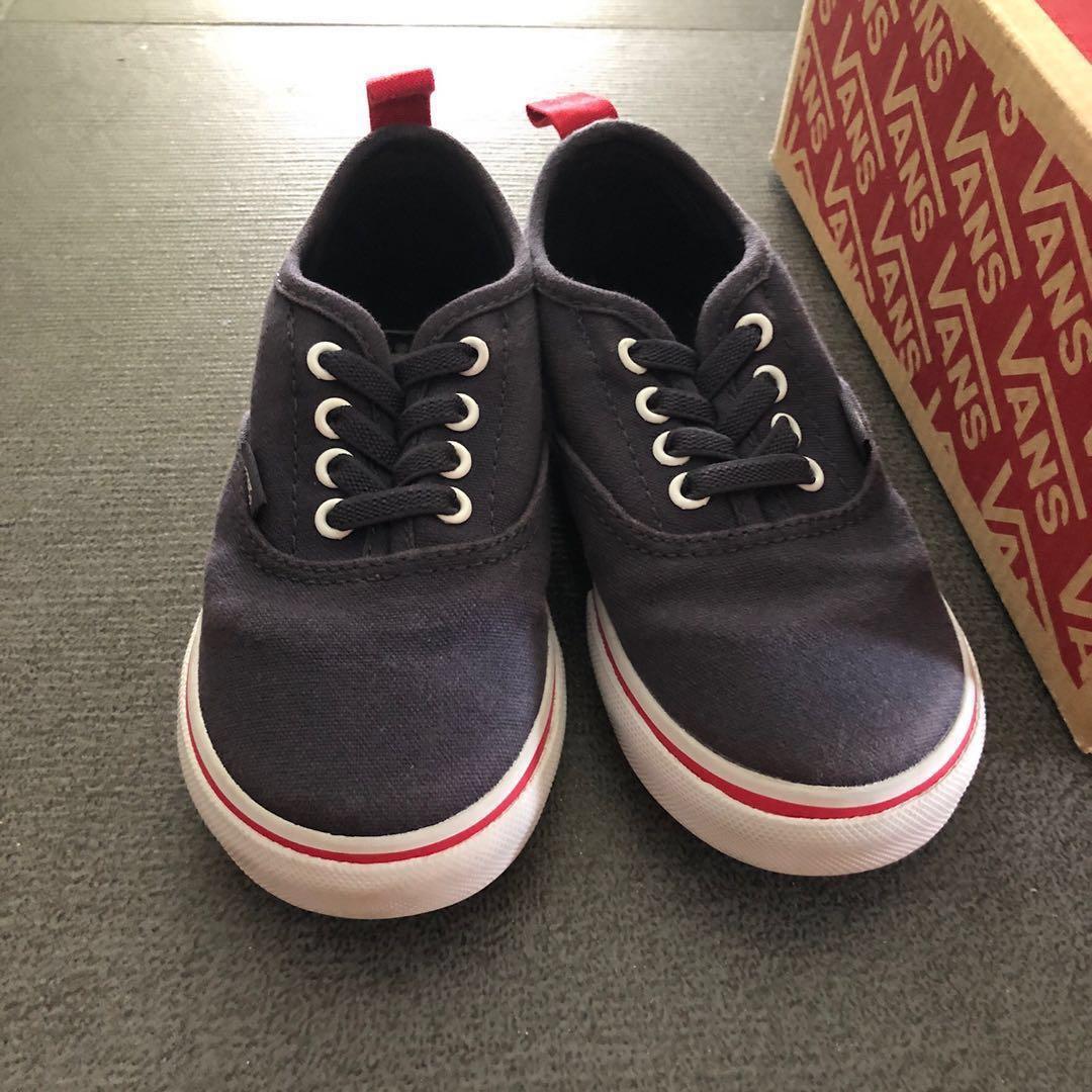 d184ecd8e5 EUC US 8.5 Vans Toddler blue shoes