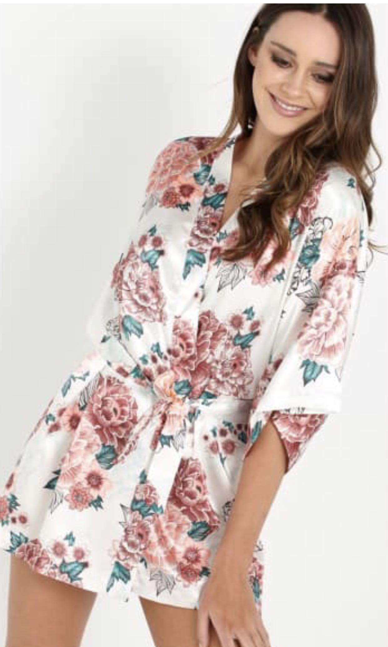 Floral Kimono Robe / Gown