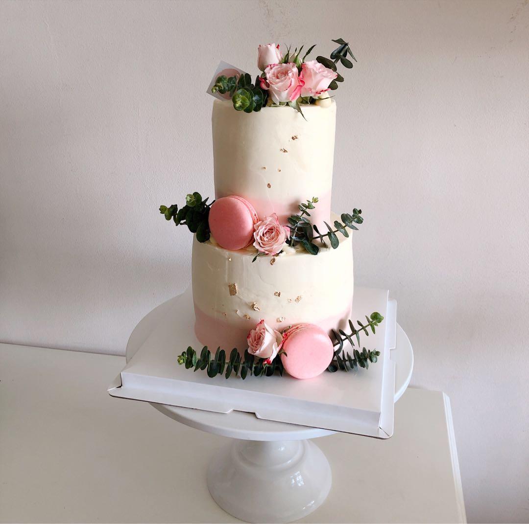 Flower Tiered Cake Tall Wedding Birthday Food