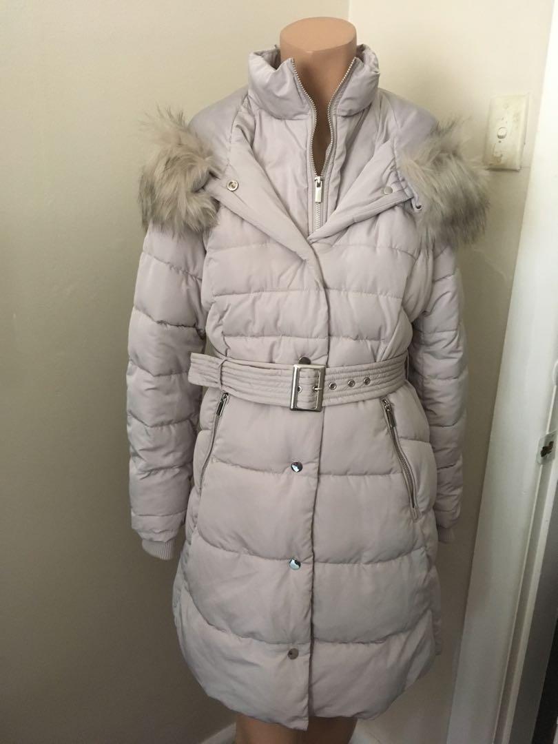 Forever New Kitty petite puffer grey coat - BNWTS $169.95