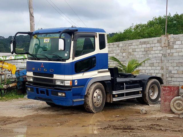 Fuso Super Great Tractor Head 6M70 with Tokyu Semi Lowbed Trailer
