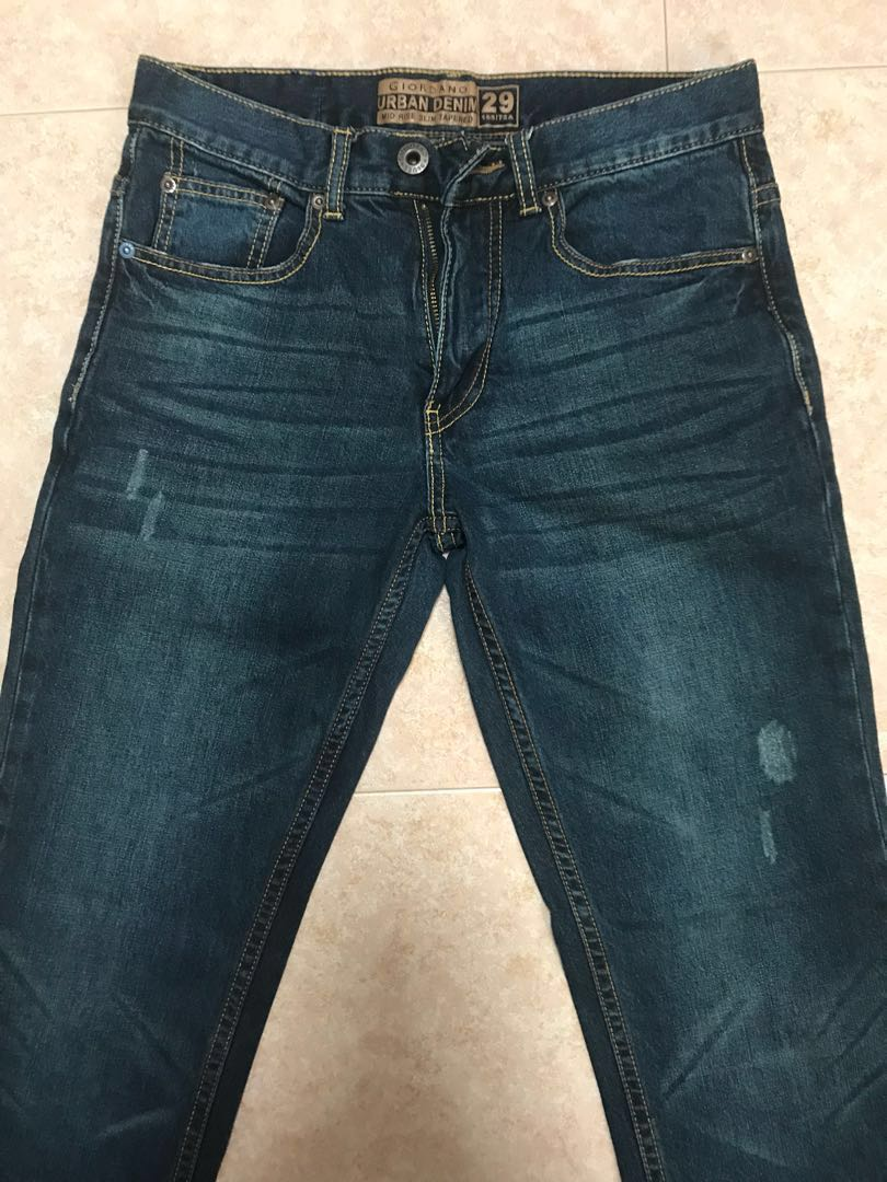 6518f01889b Giordano Men's Jeans, Men's Fashion, Clothes, Bottoms on Carousell