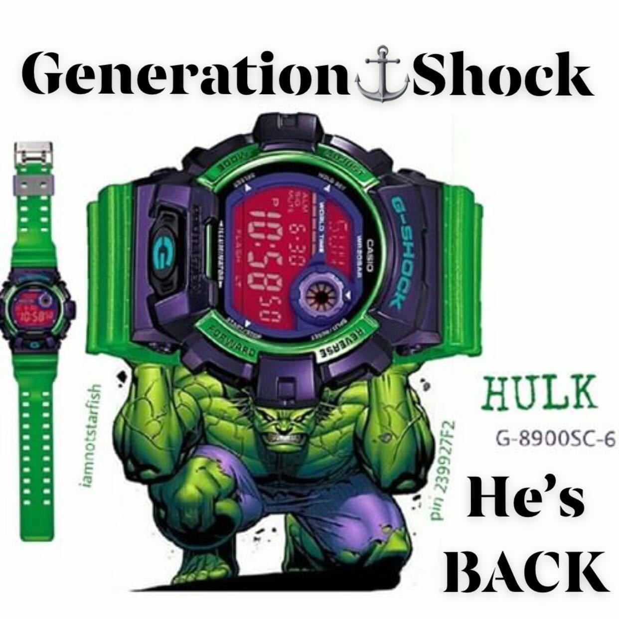 65333e711bf0f GSHOCK🌟HULK🌟THEME DIVER SPORTS WATCH   1-YEAR OFFICIAL WARRANTY ...