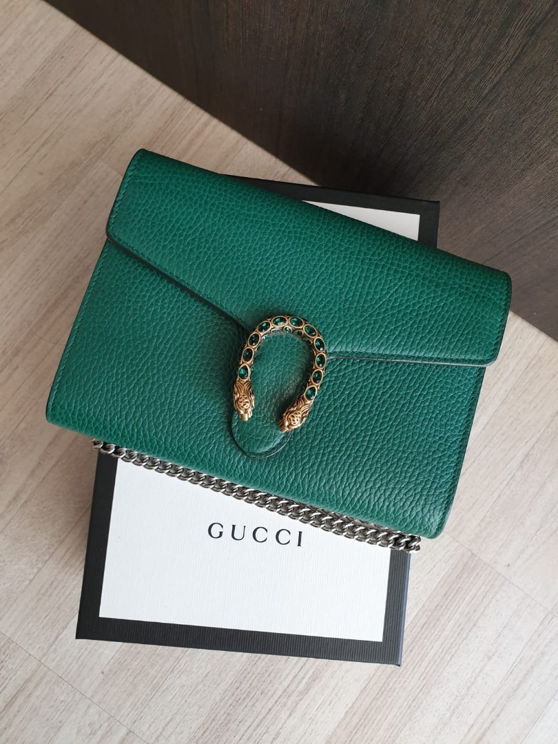 3fd3ae7d89 GUCCI DIONYSUS LEATHER MINI CHAIN AUTHENTIC