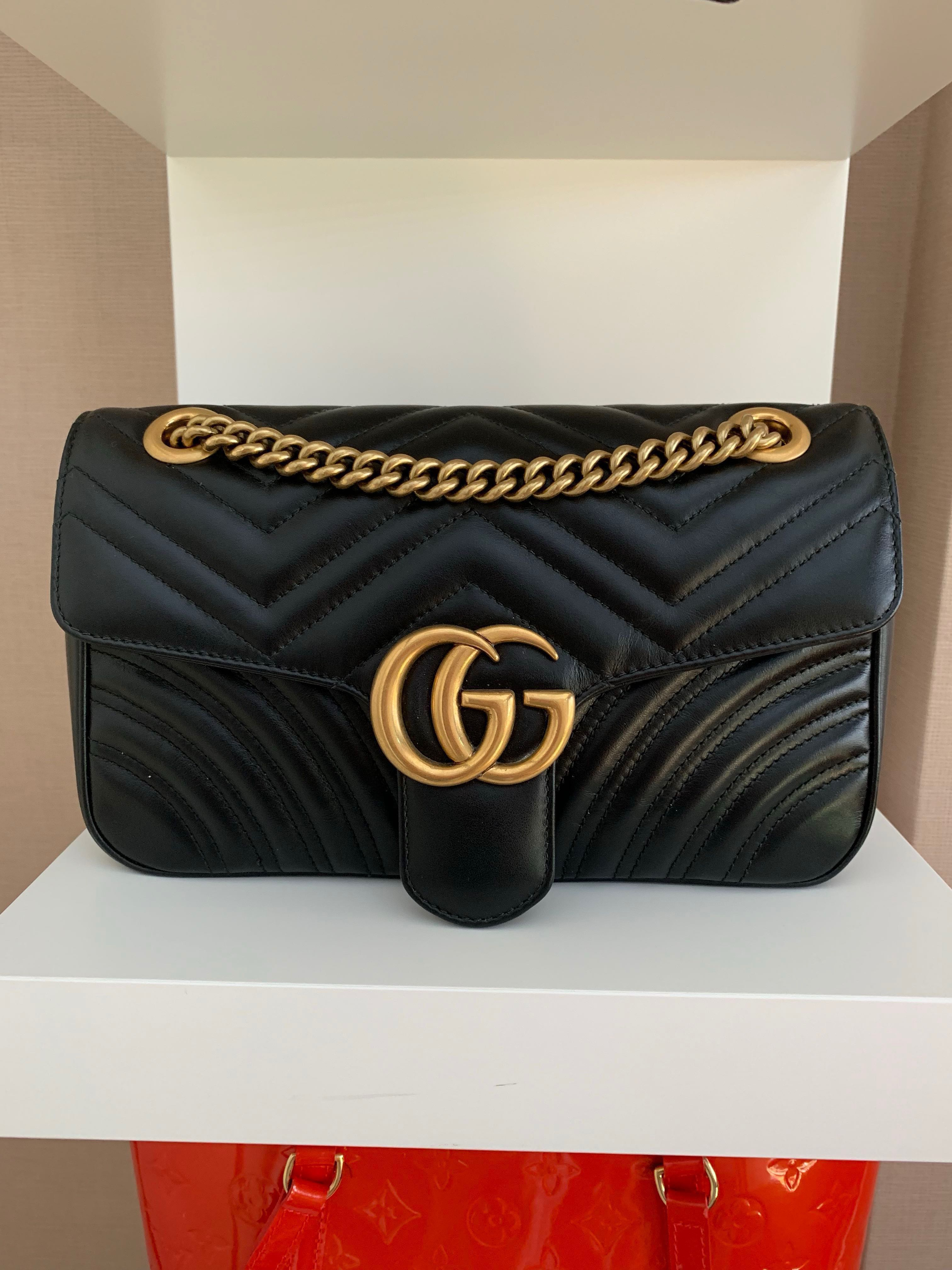 79f2429363ce6e Gucci marmont small matelasse shoulder bag, Luxury, Bags & Wallets ...