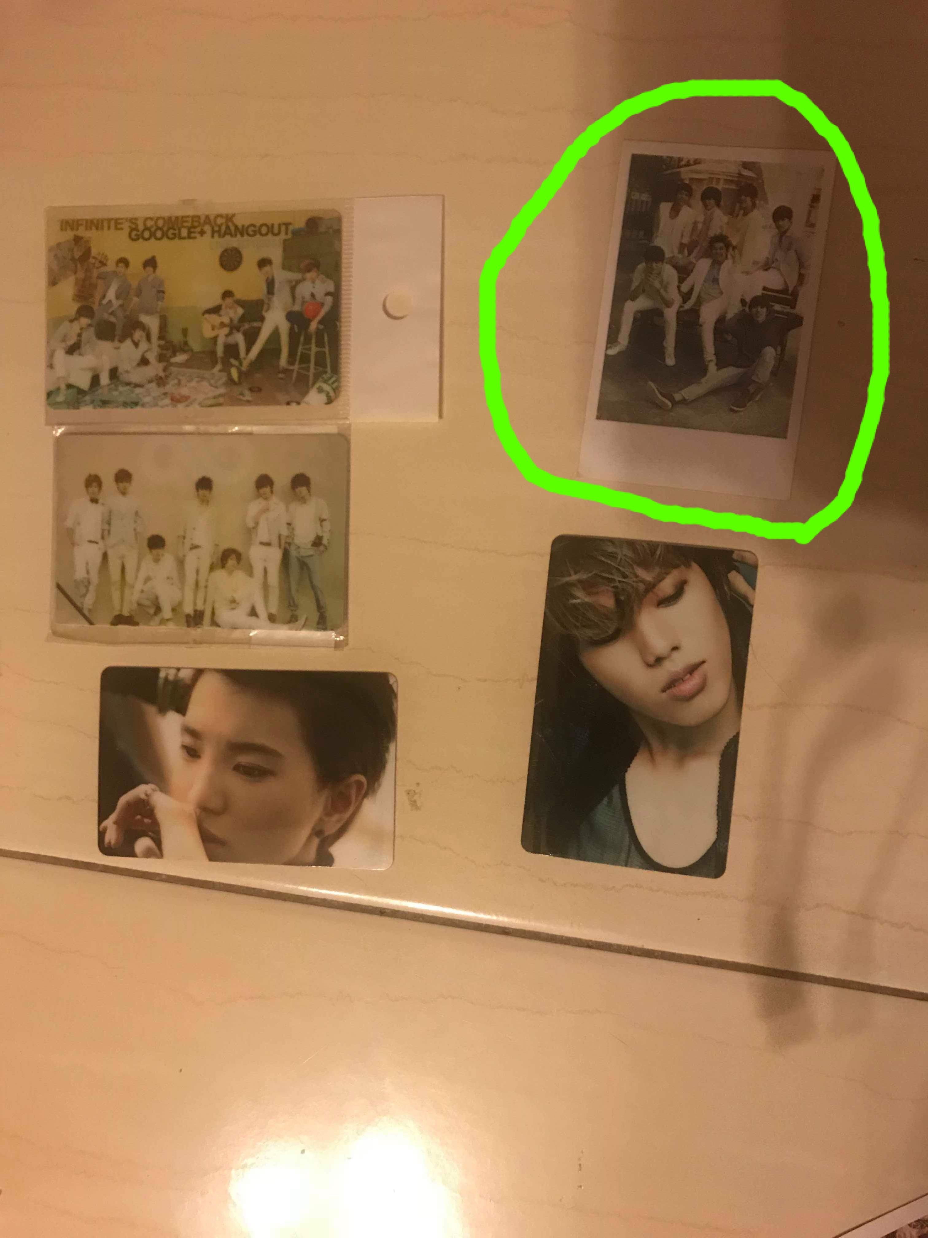 INFINITE PHOTOCARDS WIH STICKER AT THE BACK & lomocard