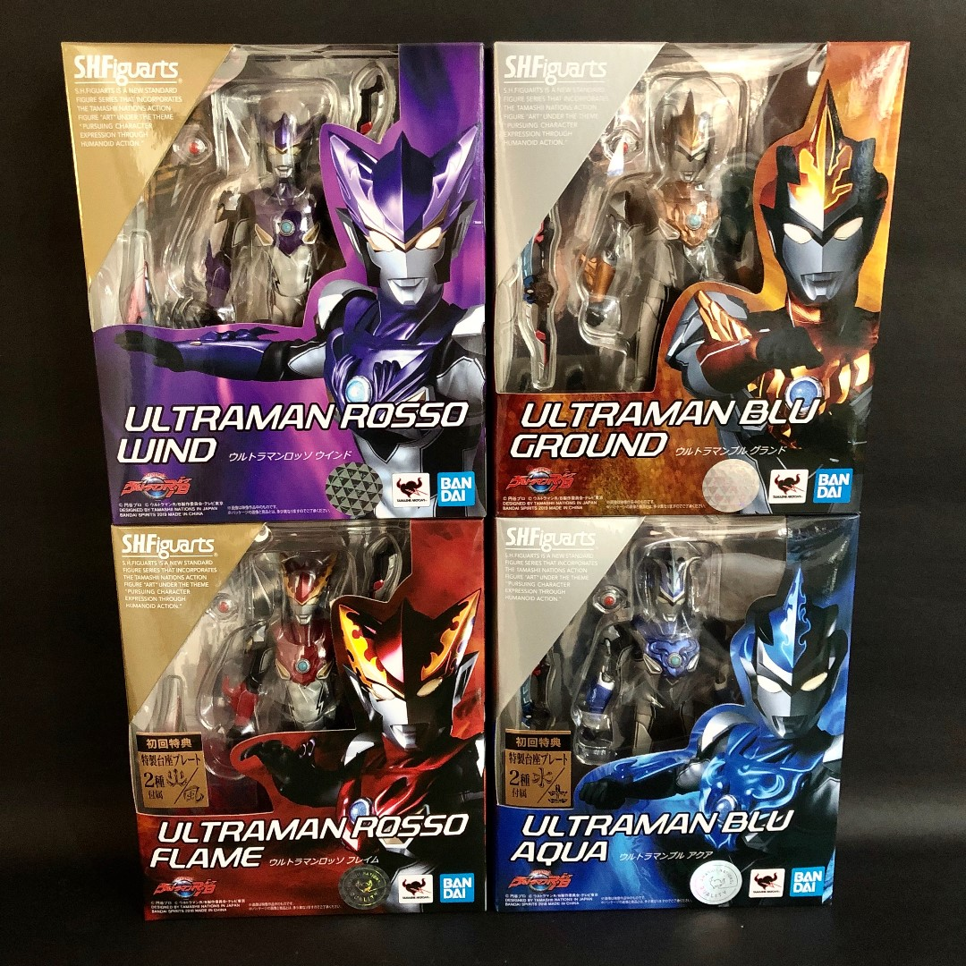 In-stock] S H  Figuarts SHF Ultraman R/B Set of 4 (Asia