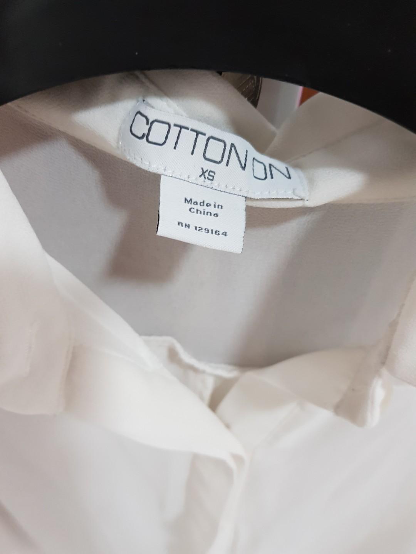 Kemeja Shirt Putih COTTON ON