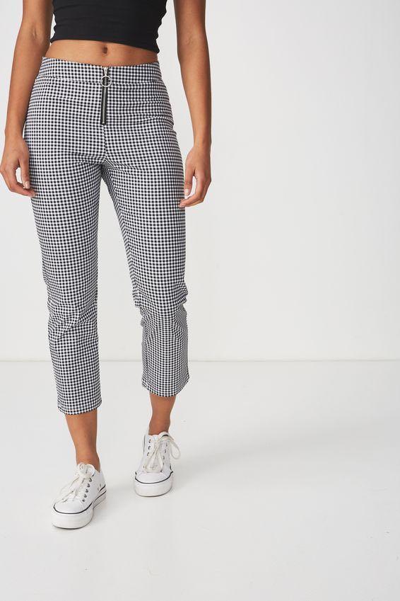 Ladies checked pants
