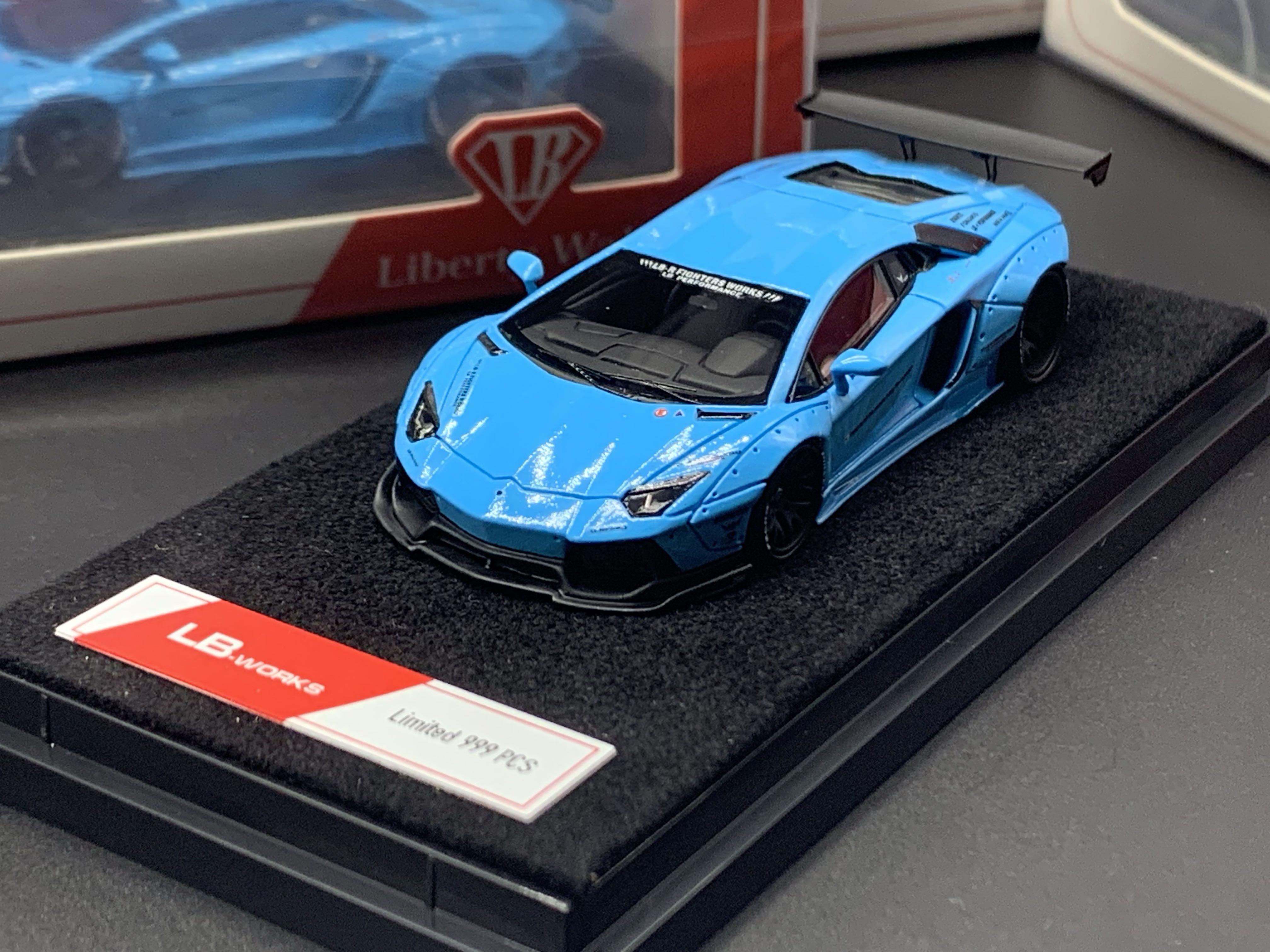 Liberty Walk 1 64 Lb Works Lamborghini Aventador Baby Blue Toys