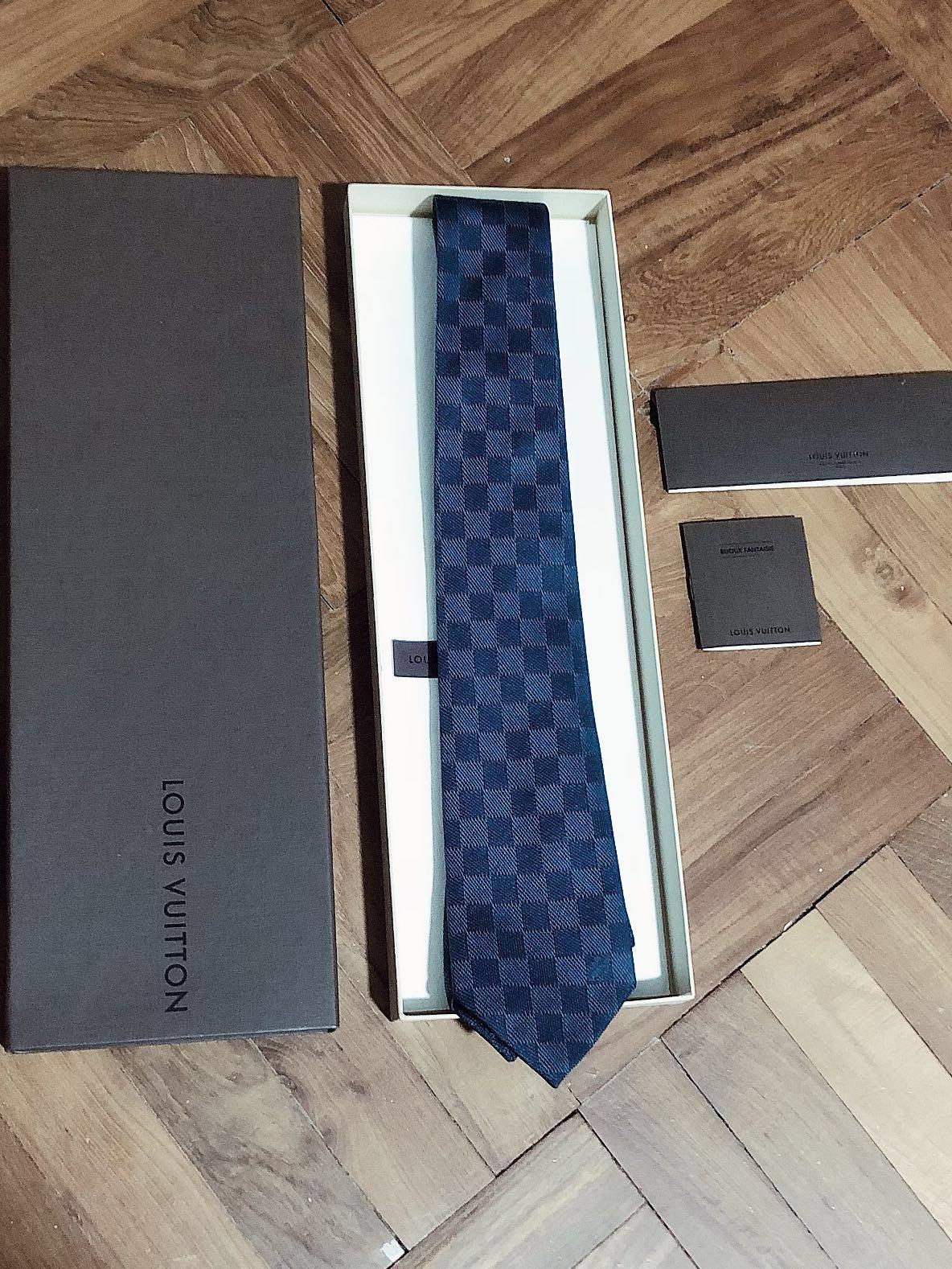 e15a018bb91e Louis Vuitton LV DAMIER CLASSIQUE TIE, Men's Fashion, Accessories ...