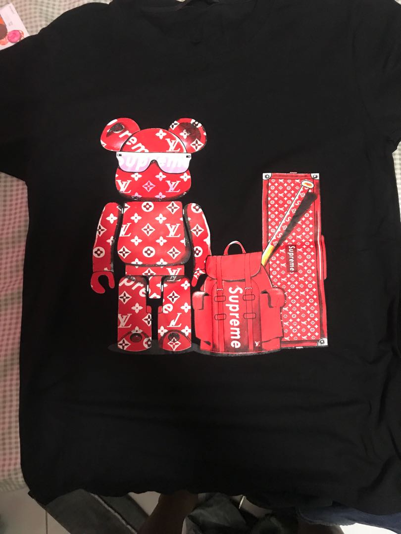 2b4af2d4c5be Louis vuitton x supreme, Men's Fashion, Clothes, Tops on Carousell