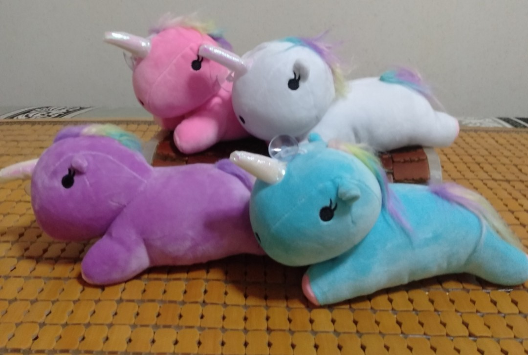 2ea952d53925 Lying Down Unicorn Plush/Stuff Toy/Soft Toy from Claw machine for ...