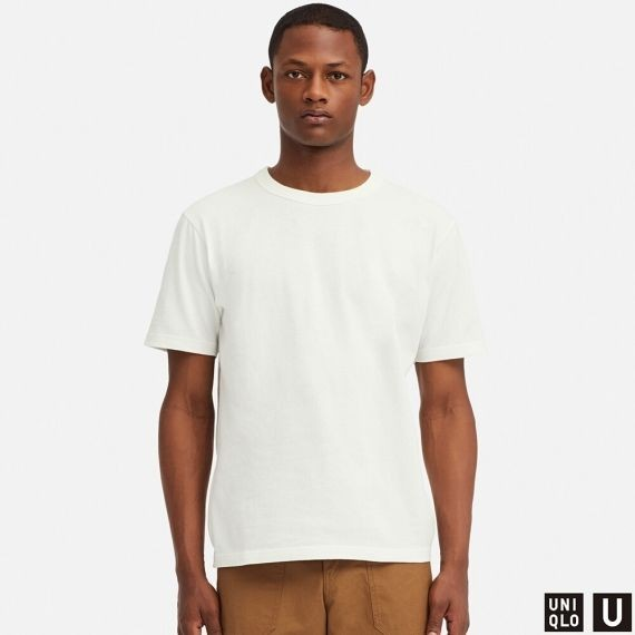 50eaad582ab7 MEN Uniqlo U Crew Neck Short Sleeve T-Shirt (White)