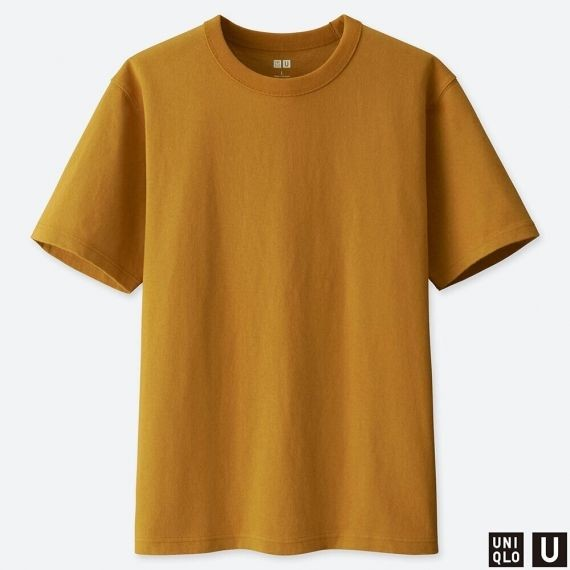 1aa70137b1e5 MEN Uniqlo U Crew Neck Short Sleeve T-Shirt (Dark Yellow)