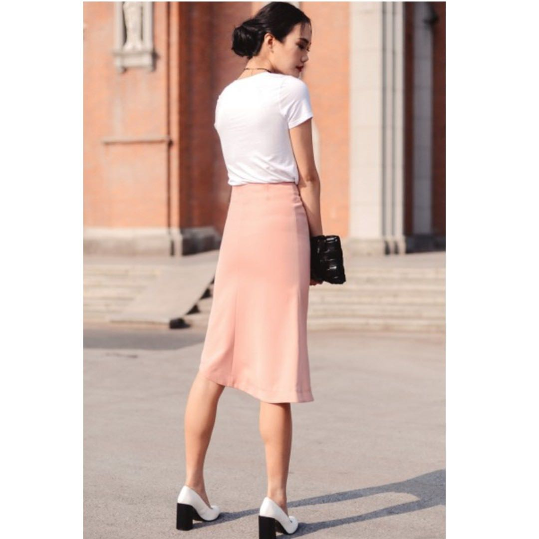 518791cf2a Milton Skirt in Pink, Women's Fashion, Clothes, Pants, Jeans ...