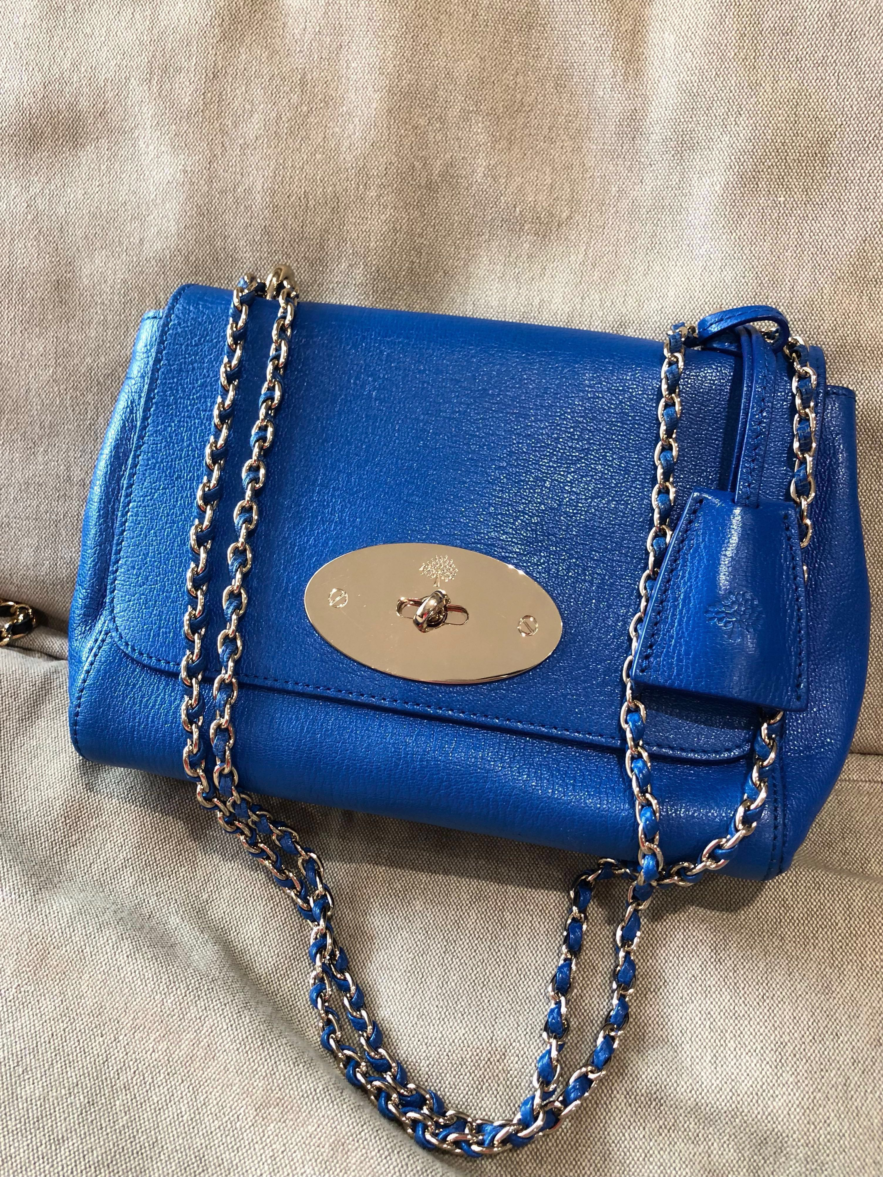 c0d38c9e43 Mulberry small lily in cobalt blue