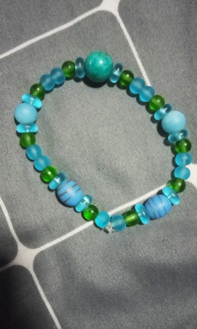 Nepalese glass beads tibet turquoise bracelet