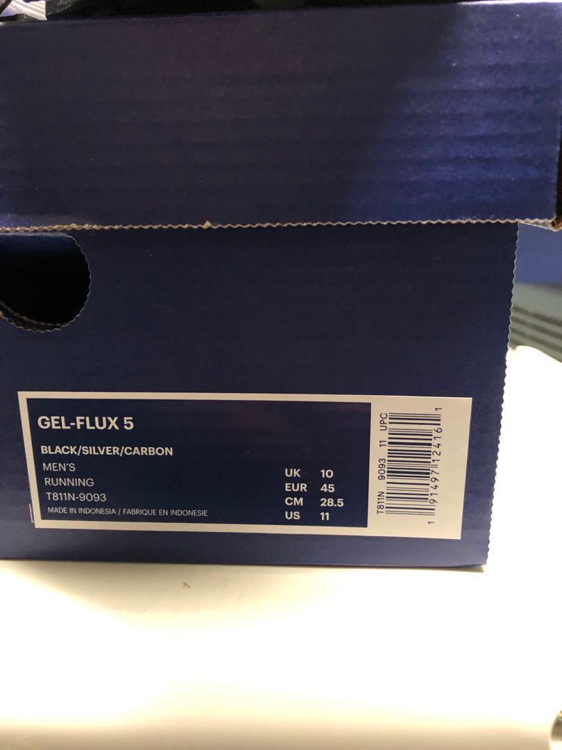 New ASICS Gel Flux 5 size 11 Still in box, never worn Size 11