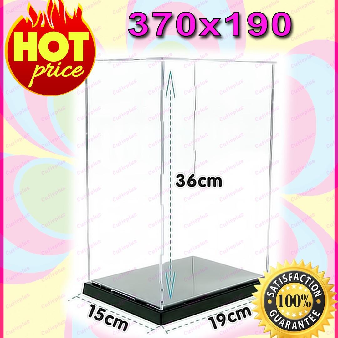 """New! Clear Acrylic Display Case Box 12"""" 1/6 Scale Figures (Easy self-assembly) !"""