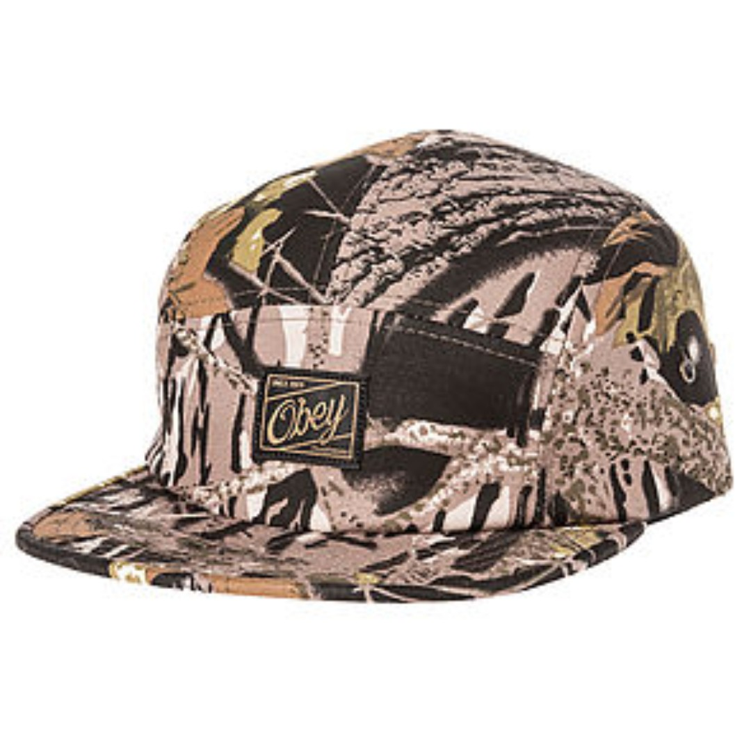 7fa9dea7a3a38 OBEY Uplands 5 Panel Cap Hat in Tree Camo