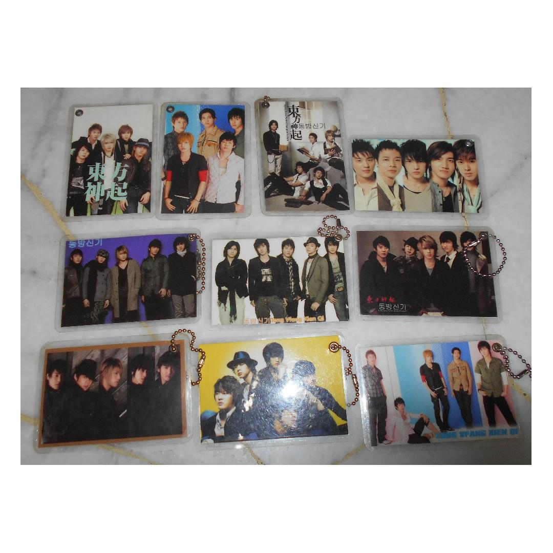 [PRE-LOVED] DB5K/TVXQ CARD KEY-CHAINS - EACH RM1 (NOT INCLUDE POSTAGE)