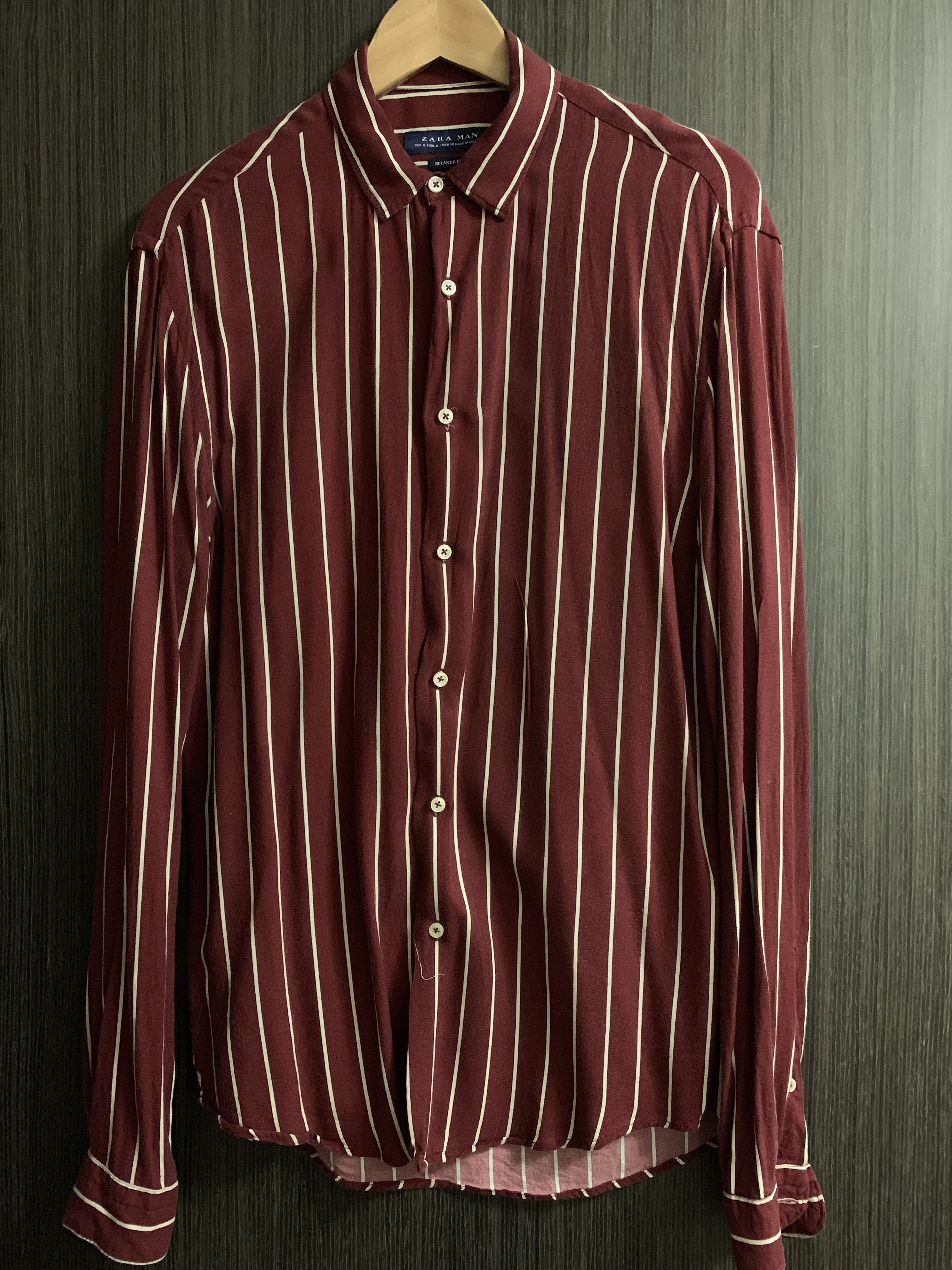 a890a971 (PRELOVED) ZARA STRIPED FLOWING SHIRT #ENDGAMEyourEXCESS, Men's Fashion,  Clothes, Tops on Carousell