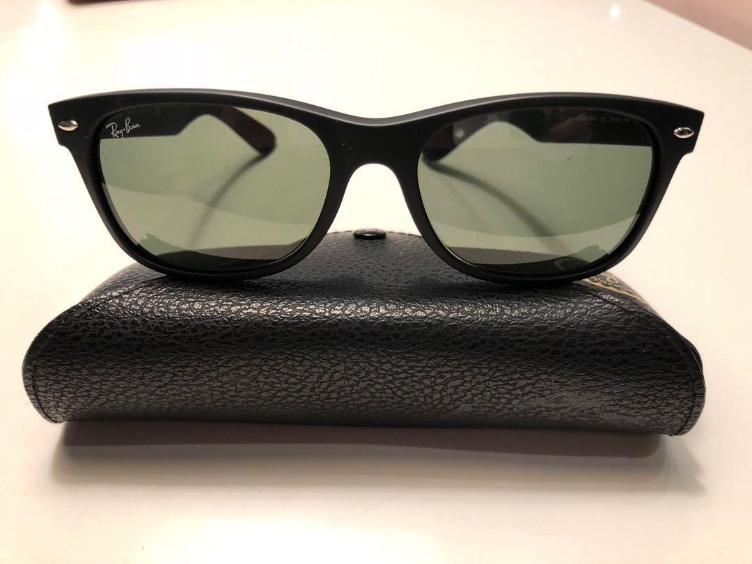 Ray ban new wayfarer matte black sunglasses