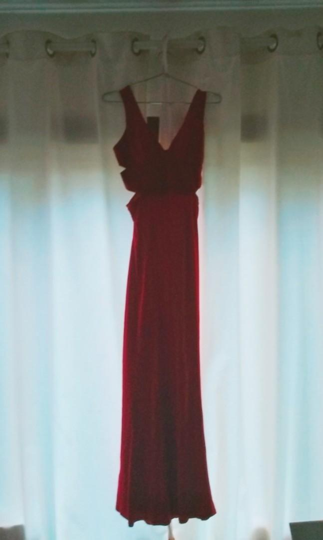 BNWT Red Slit Formal Dress SALE