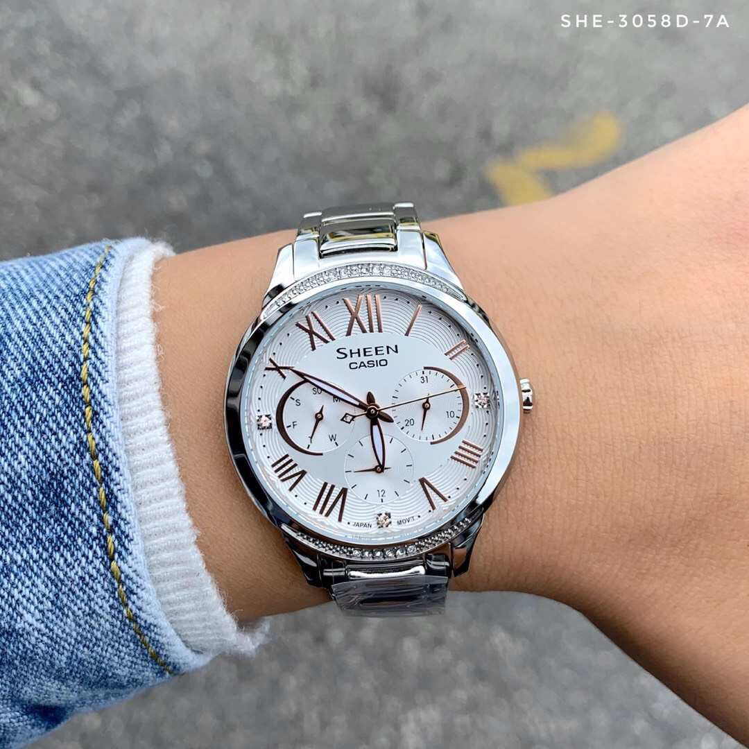 496e4168 Sheen SHE-3058D-7A Watch, Luxury, Watches on Carousell