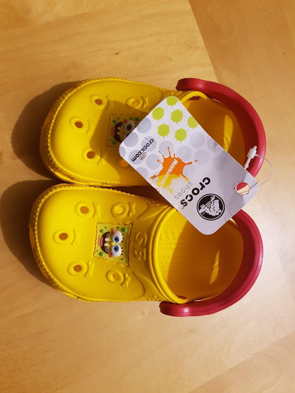 Spongebob Crocs size 6/7 children