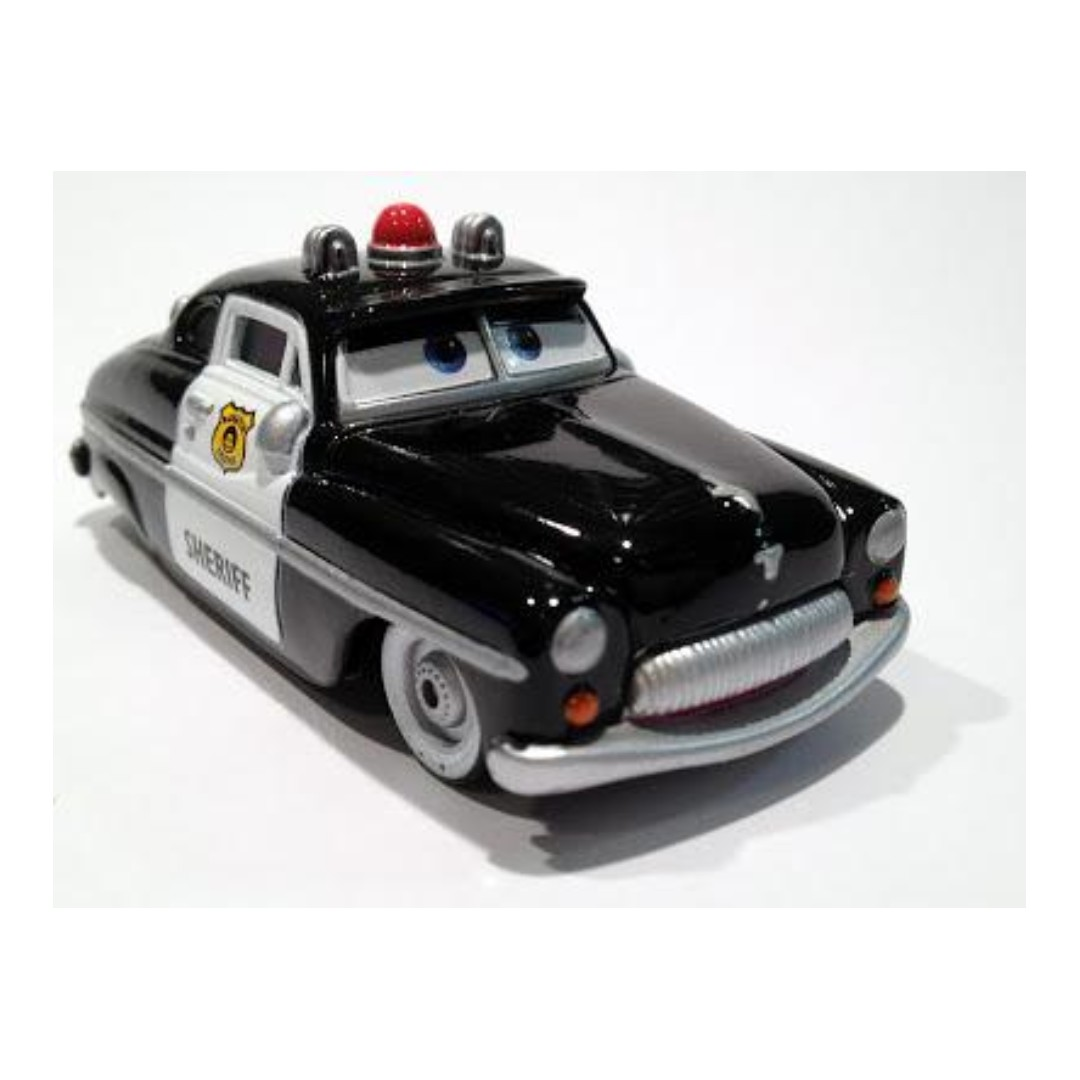 Supercharged Disney Pixar Cars Die Cast Cars Sheriff By Mattel