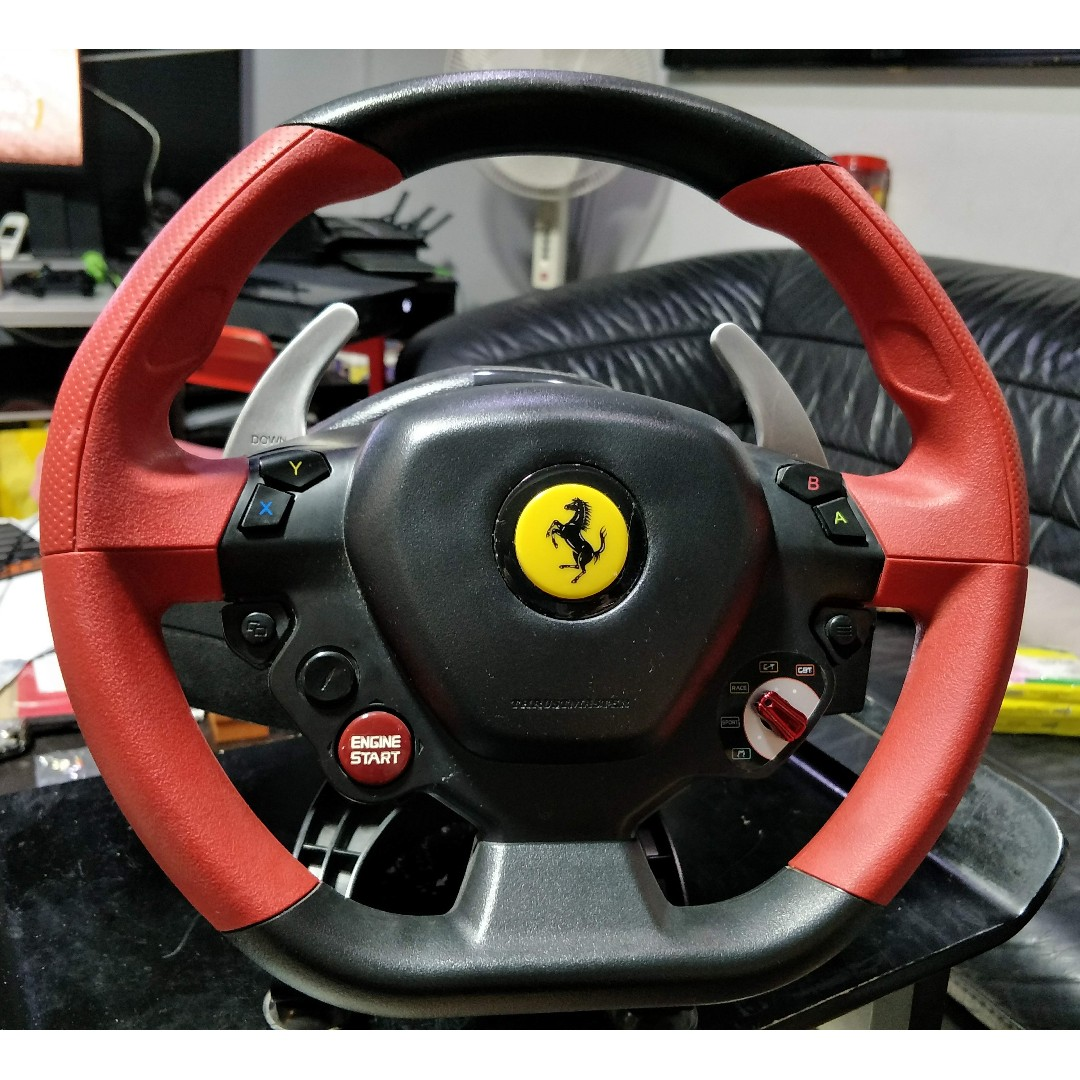 Thrustmaster Ferrari 458 Spider Racing Wheel Xbox One Toys Games Video Gaming Gaming Accessories On Carousell