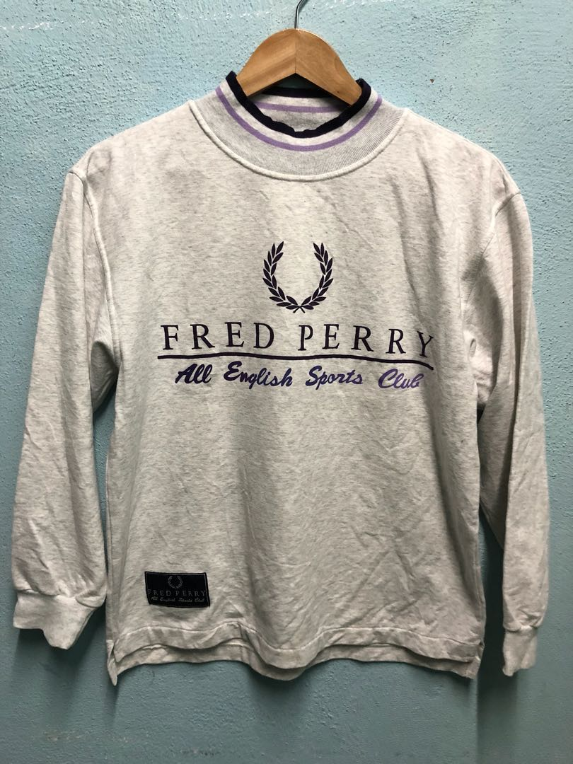 8103e08a Vintage 90s Fred Perry sweatshirt, Men's Fashion, Clothes, Tops on ...
