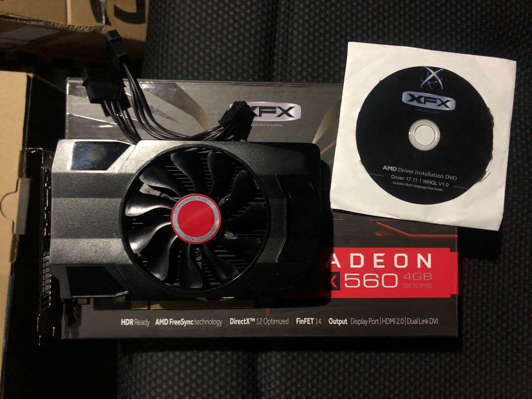 XFX RADEON RX560 顯示卡