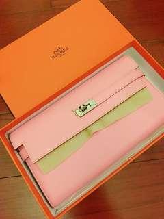 🚚 Hermes pink kelly wallet