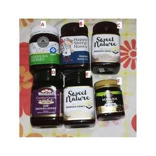 Variuos type of manuka honey umf5 umf10 honey . multiples available
