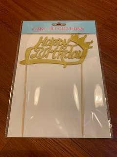 """🚚 Cake topper """"Happy Birthday"""""""