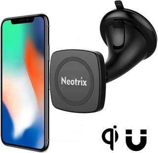 🚚 Neotrix Magnetic Wireless Car Charger Mount, Mobile Cell Phone Air Vent / Dashboard / Windshield Magnet Car Mount Holder Cradle and Charger for iPhone 8 8 Plus X Samsung S8 Plus and others Qi Enabled