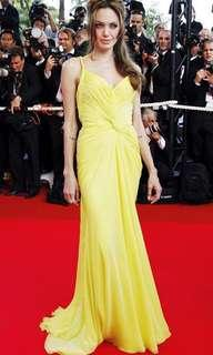 Angelina Jolie's Cannes inspired yellow gown