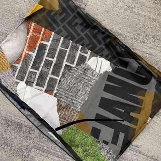 Fendi 圖案print 絲質scarf