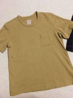 Muji 100% cotton trendy brown tshirt!