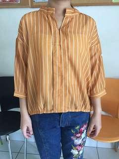 Mustard stripe blouse